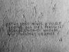 Napis w celi izolacyjnej nr 6,  fot.  Dokumentacja konserwatorska PKZ, 1966