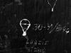 Napis w celi zbiorowej, tzw. tramwaju nr 4,  fot.  Dokumentacja konserwatorska PKZ, 1966