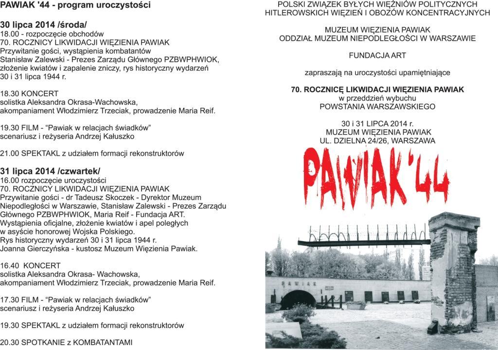 Zaproszenie - program